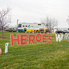 "A ""Heroes Work Here"" sign sits in front of Goshen Physicians Family Medicine and Urgent Care at 2824 Elkhart Road in Goshen."