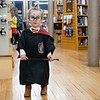 Avery Morris, 2, of Goshen, dresses up as Harry Potter at Fables Books Thursday evening during the Harry Potter Book Night.