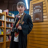 Lucas Miller, 10, of Goshen, dresses up as Colin Creevey at Fables Books Thursday evening during the Harry Potter Book Night.