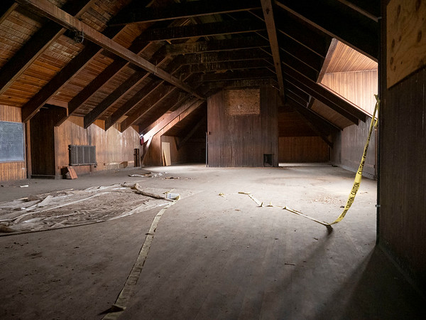 A view of the original Goshen high school gym on the third floor of the city Annex building. The city Annex building is in the original Goshen High School built in 1904 located at 204 E. Jefferson St., Goshen.
