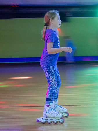 Jillian Sutter, 9, of Middlebury, skates around the skating rink during the Heritage Intermediate School Skating Night at Eby's Family Fun Thursday. Eby's Family Fun is located at 14583 State Road 120, Bristol. Services offered are roller skating, arcade games, and laser tag.