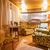 A interior view of a 1954 Spartan Imperial Mansion 8x42 Foot Mobile Home at the RV/MH Hall of Fame Tuesday.