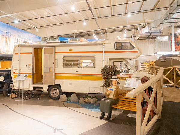 A 1978 Coachmen Ford Leprechaun Chateau Camper Special resides on display at the RV/MH Hall of Fame Tuesday.