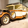 A exterior view of a 1928 Pierce Arrow House Car at the RV/MH Hall of Fame Tuesday. It is one of three of these RV's ever made.