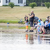 Fidler Pond's Fantastic Fishing Derby participants cast their lines into the pond Saturday morning.