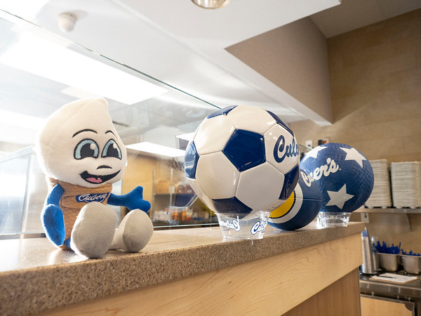 A view of items on display Monday morning during the ribbon cutting ceremony at the new Culver's on Elkhart Road in Goshen.
