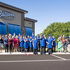 Culver's franchise co-owner Kevin Ray  cuts the Goshen Chamber of Commerce ribbon Monday morning during the ribbon cutting ceremony at the new Culver's on Elkhart Road in Goshen.