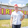 Freebies Fireworks contractor Elizabeth Coquillard speaks in front of her and her husband's firework store Thursday afternoon during an interview about a burglary that occurred Tuesday night in Goshen.