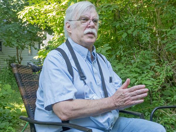 John Frybort, of Goshen, speaks during an interview Thursday morning at his home in the 300 block of Seventh Street in Goshen.