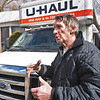 Bobby Linville speaks during an interview in front of his mobile home Wedesday afternoon at Roxbury Park in Goshen. The park is located at 403 Post Rodd and is owned by parent company Sun Communities Inc.