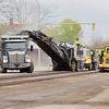 Niblock  subcontractor  C.E. Hughes Milling Inc. mills up Main Street Tuesday morning near the intersection of South Main Street and West Jefferson Street.