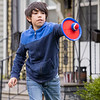 Judah Durnell, 10, of Goshen, plays catch his mom Thursday afternoon at their home along the 800 block of Sixth Street in Goshen.