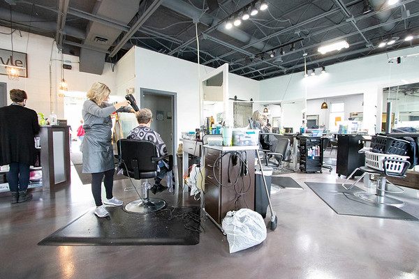 An interior view of In-Style Salon Monday morning at In-Style Salon in Goshen.