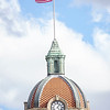 An exterior view of the flag pole on the top of the Elkhart County Court House Monday afternoon in Goshen.