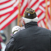 "Roger Schneider | The Goshen News<br /> Phil Whitehead plays ""Taps"" on a digital bugle during Wednesday's Veterans Day ceremony."