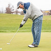 Tom Moon, of Osceola, putts the ball at McCormick Creek Golf Course in Nappanee. Temperatures for this weekend are expected to be in the low 50's, but expected to drop to the low 40's on Tuesday.