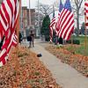 Roger Schneider | The Goshen News<br /> Goshen Mayor Jeremy Stutsman addresses veterans and a crowd during Wednesday's Veterans Day ceremony.