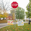 Signs both for and against a proposed Wawasee Community Schools referendum were on display Thursday morning at the intersection of North Huntington Street and Ind. 13 in Syracuse.