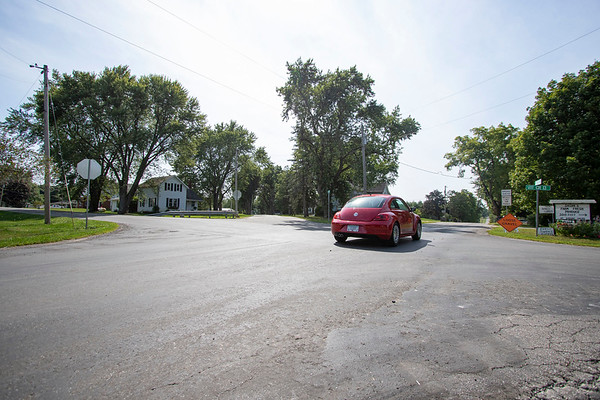 Elkhart County Commissions approves for a speed limit sign at the triple intersection of County Road 111, County Road 13, and County Road 32 Monday afternoon in Goshen.