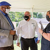 Elkhart Mayor Rod Roberson, left,  and Executive Director Habitat for Humanity of Elkhart County Greg Conrad, middle, speaks with new Habitat for Humanity homeowner Chelsea Hoeflinger during the ground breaking Thursday afternoon in Elkhart.