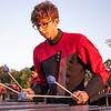 NorthWood band member Gavin Morey plays an instrument Friday, Sep. 4 during halftime of the game between the Concord Minutemen and NorthWood Panthers  at NorthWood High School in Nappanee.