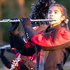 NorthWood band member Rebeckah Sharp plays the flute Friday, Sep. 4 during halftime of the game between the Concord Minutemen and NorthWood Panthers  at NorthWood High School in Nappanee.