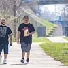 Carlos Caudillo and Jose Caudillo, both of Goshen, walk the Maple City Greenway Tuesday morning in Goshen. According to a  Metorologist of Northern Indiana Chris Roller the high for the day was in the mid to upper 70's.