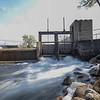Water flows through the Turkey Creek Memorial Dam Wednesday near the Veterans Memorial Crosson Mill Park in Syracuse.