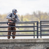 James Lewis, of Elkhart, casts a line into the Goshen Millrace Wednesday. Trout season begins Saturday.
