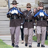 Elkhart County Sheriff Honor Guard presents the colors during Wednesday's flag pole dedication ceremony at the Elkhart County Courthouse lawn in Goshen.