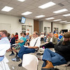A large group of residents in the community of the proposed solar project in attendance of the Elkhart County Commissioners Meeting Monday at the Elkhart County Administration Building in Goshen.
