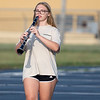 Wawasee High School band member Alexis Stump marches with her clarinet during practice.
