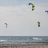 Kite surfers take to the water of Lake Michigan along the shore of Tiscornia Park Wednesday, Aug. 11 in St. Joseph, Michigan.