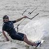 A Kite surfer makes a run towards the shore of Tiscornia Park Wednesday, Aug. 11 in St. Joseph, Michigan.