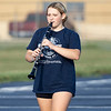 Wawasee High School band member Anna Shock plays a clarinet during practice.