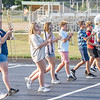 Wawasee High School band members perform marching maneuvers during practice Sept. 2.