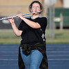Wawasee High School band member Zoey Halsey plays a flute during practice.