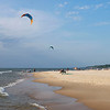 Kite surfers take to the waters of Lake Michigan along the shore of Tiscornia Park Wednesday, Aug. 11 in St. Joseph, Michigan.