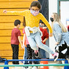 Itzel Caballero jumps over hurdles Friday morning during a jump rope party at Lakeland Primary Elementary in LaGrange.