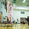 Michelle Castro jumps off a trampoline Friday morning during a jump rope party at Lakeland Primary Elementary in LaGrange.