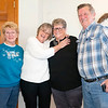 Gloria Dennis, of Goshen, left, Bonnie Miller, of Syracuse, left middle, Dutch Maid Bakery employee Connie Kramer, right middle, and Richard Archer, right, celebrate Kramers retirement Thursday during an open house at Dutch Maid Bakery located at 508 W. Lincoln Ave. in Goshen. Krammer is retiring after 56 years of service at Dutch Maid Bakery.