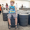 Alexavier Steiner, 5, sits on a OODLE31 in a special education classroom Monday during the Goshen Intermediate School open house located at 925 S. Greene Rd.