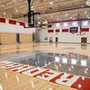 An interior view of Goshen Intermediate School gym  Monday during the GIS open house located at 925 S. Greene Rd. The new gym has real hardwood floors protected with three coats of wax.