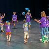 Theater Director of Camp Marilyn Mason, right, plays a ball exercise with participants in a class during the Goshen College Leaf Alive: Kids Creative Camp Thursday, June 24 on the Goshen College Campus.