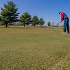 Wes Young, of Syracuse, puts on the green Wednesday morning at Wawasee Golf Club in Syracuse.