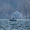 A lone fisherman fishes on Lake Wawasee Wednesday in Syracuse.