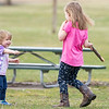 Cheyenne Mast, 1, left, plays with her sister Reagan Mast, 4, both of Goshen, Wednesday afternoon at Shanklin Park in Goshen.