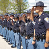 Indiana State Police officers perform a hand salute to honor their fellow officers officers who gave the ultimate sacrifice in the line of duty during the memorial service Wednesday at Indiana State Police Toll Road District Post 21 located at 52422 County Road 17 in Bristol.