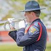Indiana State Police officer Andrew Mills performs taps to honor their fellow officers officers who gave the ultimate sacrifice in the line of duty during the memorial service Wednesday at Indiana State Police Toll Road District Post 21 located at 52422 County Road 17 in Bristol.