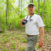 Jerry Johnson, of North Webster, walks along a trail at the Wawasee Area Conservancy located at 11586 IN-13 in Syracuse.